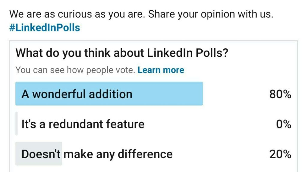 LinkedIn Polls Feature